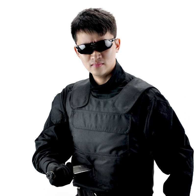 Stab resistant jacket Anti knife vest stab proof vest Aligned steel plate